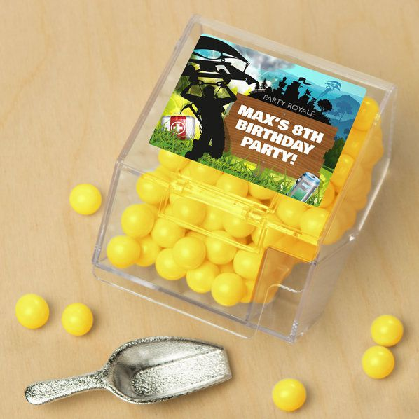 Battle Game Personalized Candy Bin with Candy Scoop (10 Count)