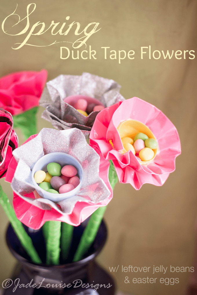 Spring crafts for kids: Spring Duct Tape Flowers