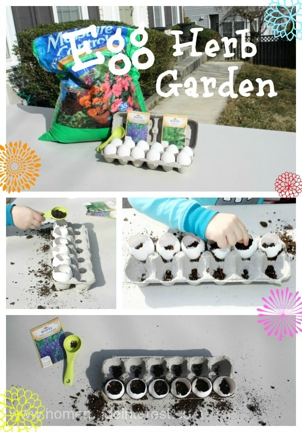 Egg Herb Garden Earth Day Crafts for kids