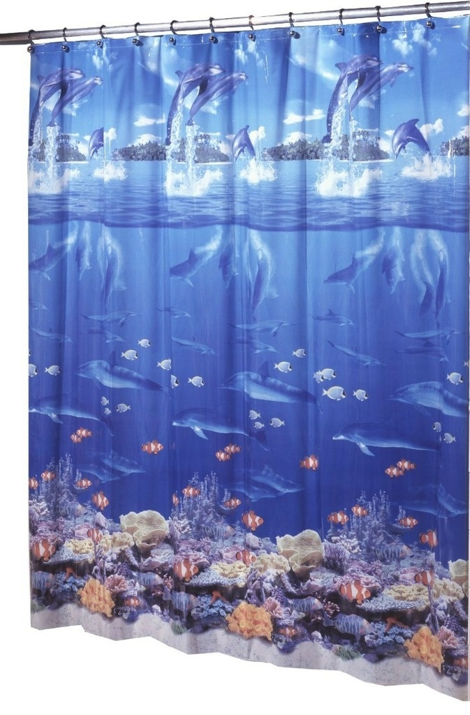 Beach Themed Party Ideas: Ocean Shower Curtain Backdrops