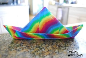 Duct Tape Crafts Rainbow Boat